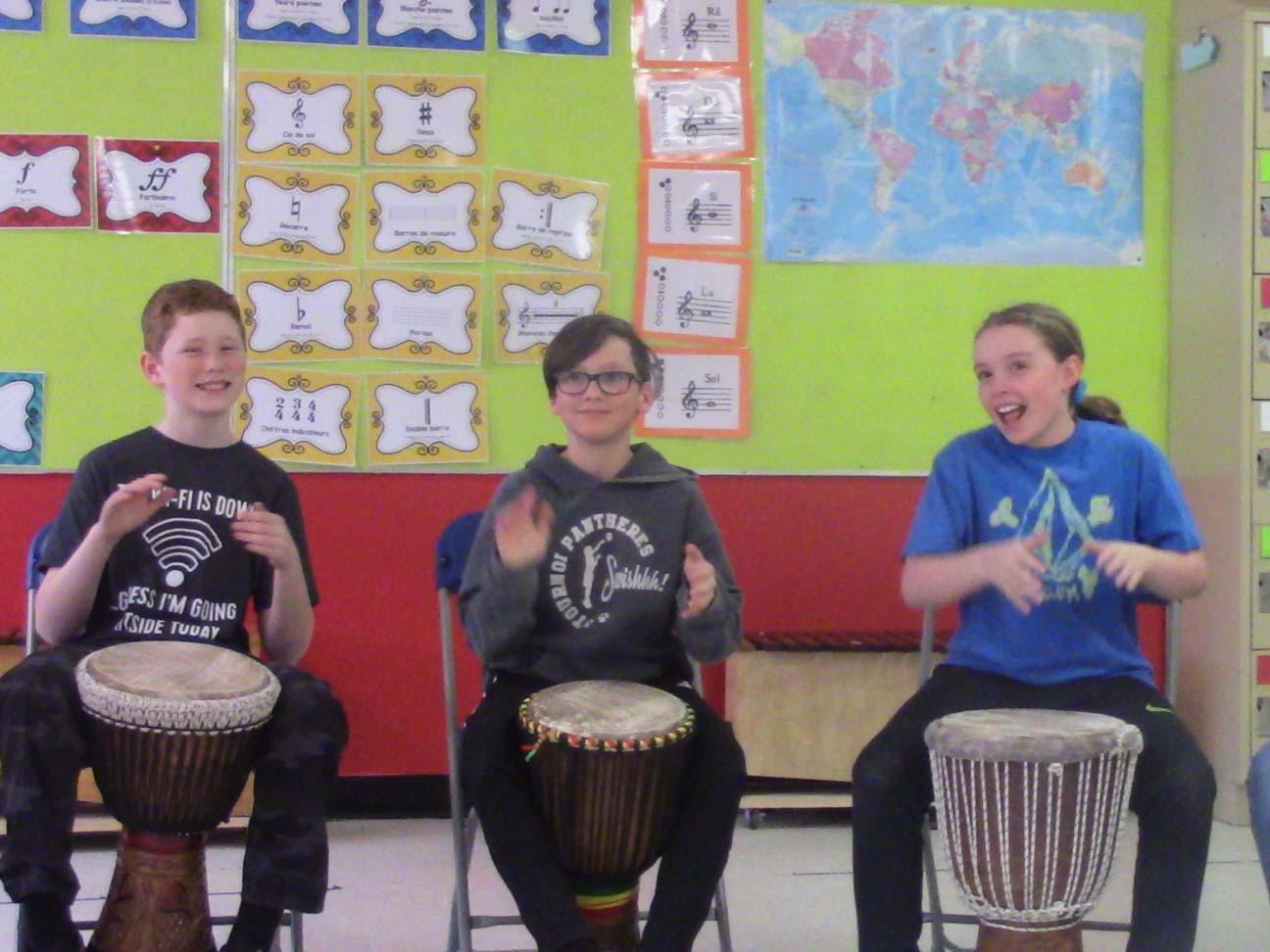 Projet percussions – École Hébert